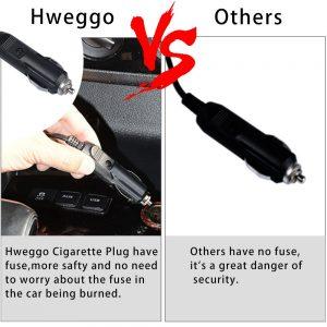 HWeggo Bomba de Aire Electrica Portatil auto